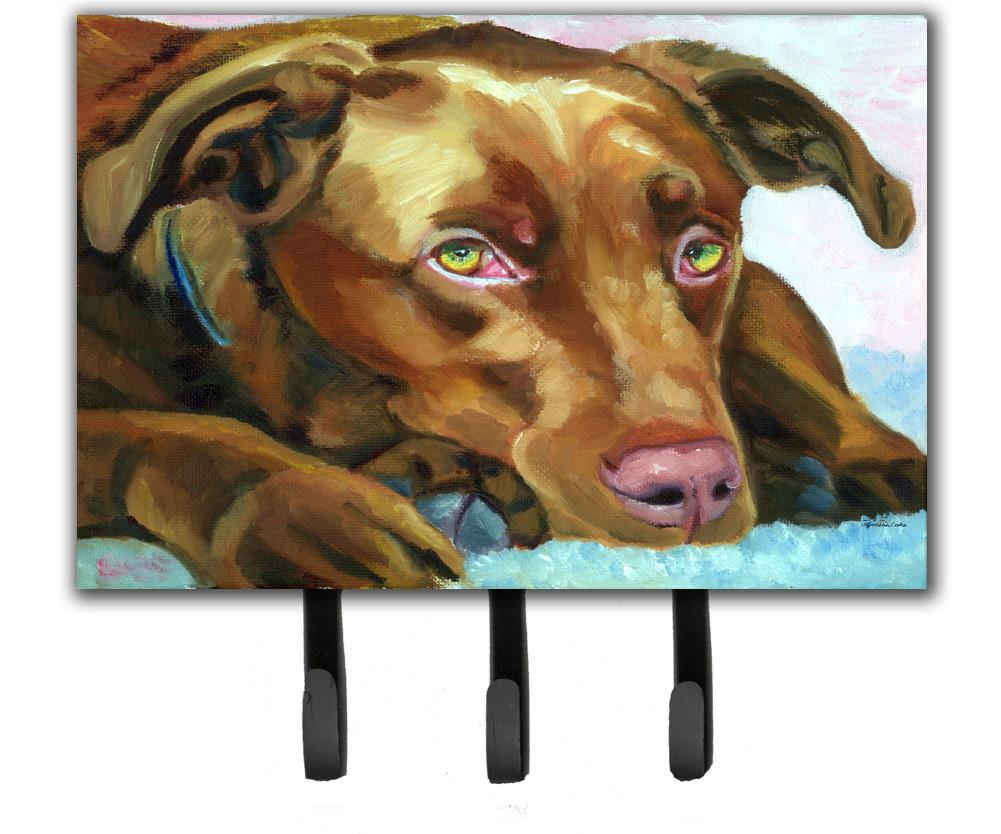 Buy this Chocolate Labrador Waiting Leash or Key Holder 7420TH68
