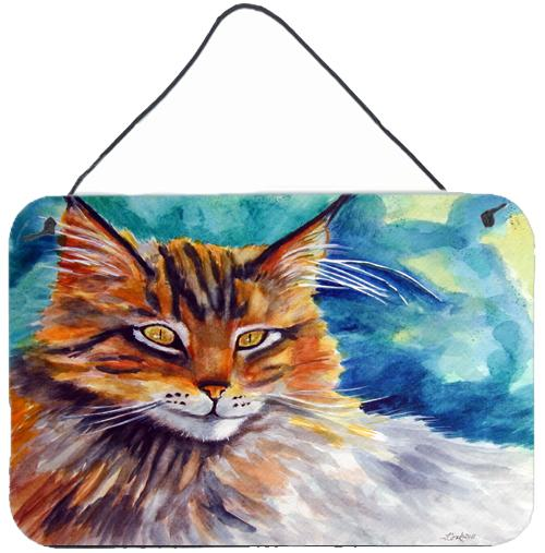 Buy this Maine Coon Cat Watching you Wall or Door Hanging Prints 7421DS812