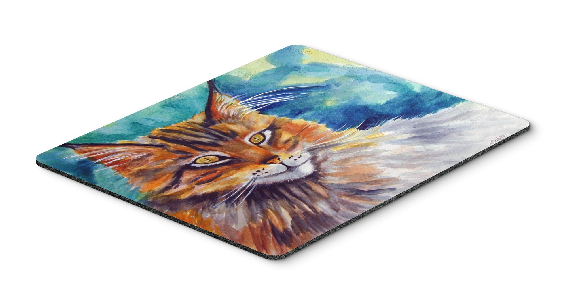 Buy this Maine Coon Cat Watching you Mouse Pad, Hot Pad or Trivet 7421MP