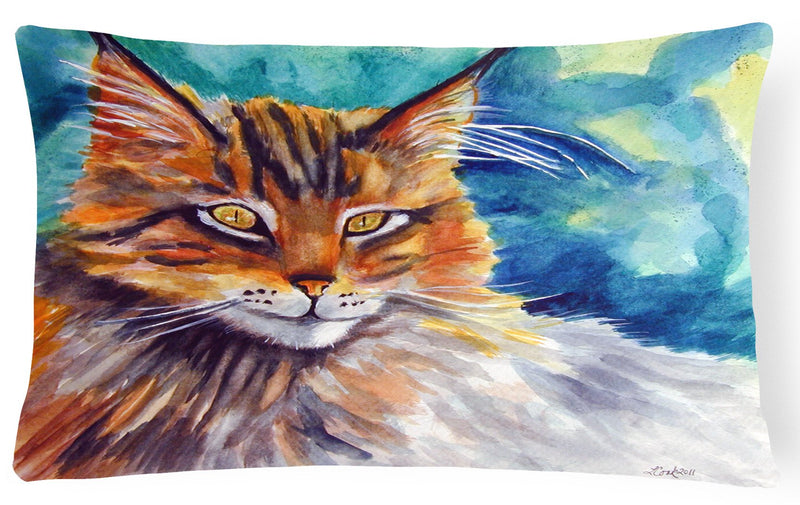 Buy this Maine Coon Cat Watching you Fabric Decorative Pillow 7421PW1216