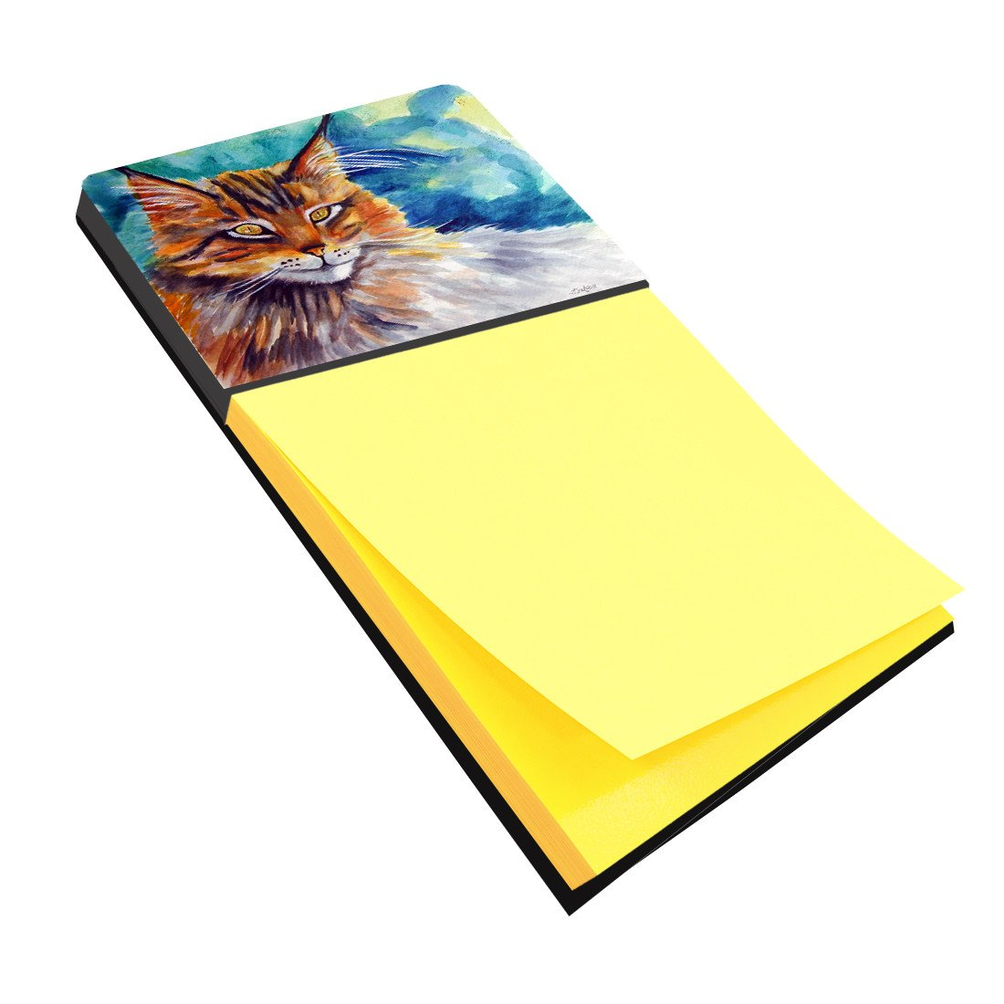 Buy this Maine Coon Cat Watching you Sticky Note Holder 7421SN