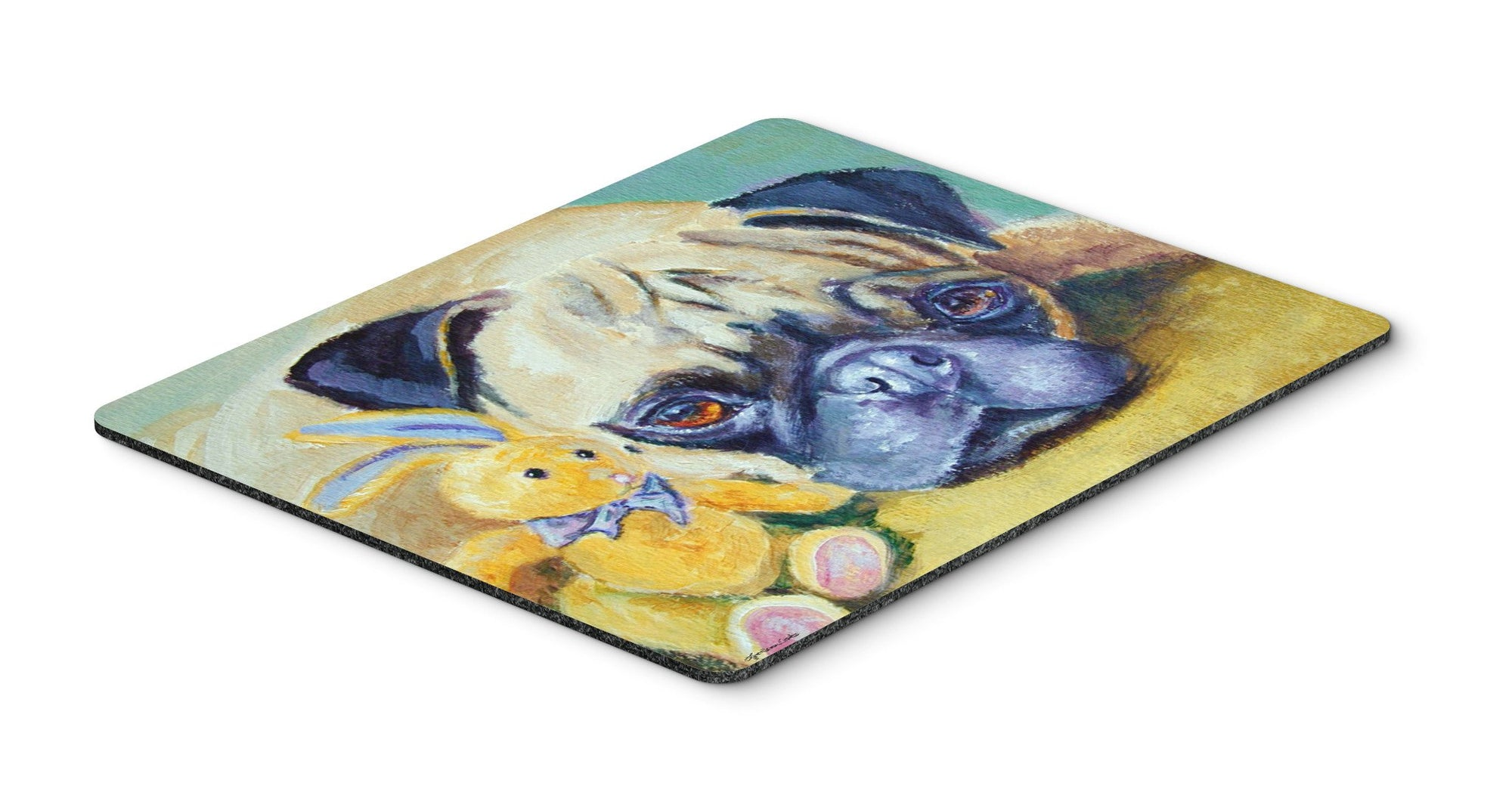 Pug Bunny Rabbit Mouse Pad, Hot Pad or Trivet 7423MP by Caroline's Treasures