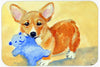 Corgi and Teddy Bear Mouse Pad, Hot Pad or Trivet 7432MP by Caroline's Treasures