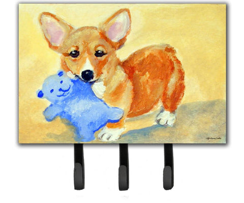 Buy this Corgi and Teddy Bear Leash or Key Holder 7432TH68
