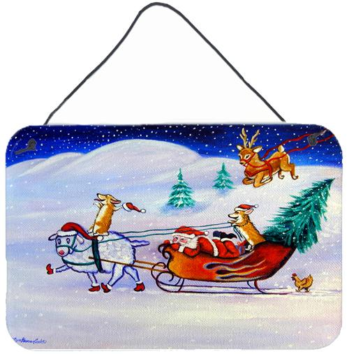 Buy this Corgi Highhacked Santa Claus Sleigh Wall or Door Hanging Prints 7442DS812