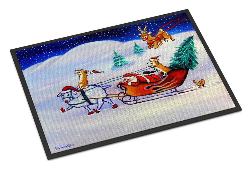 Buy this Corgi Highhacked Santa Claus Sleigh Indoor or Outdoor Mat 18x27 7442MAT