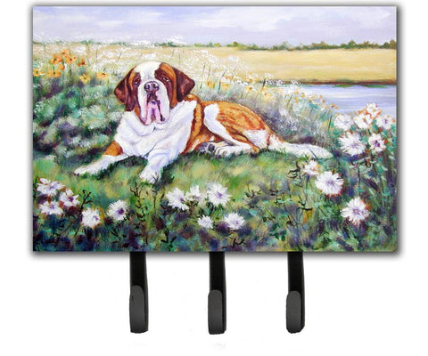 Buy this Saint Bernard in Flowers Leash or Key Holder 7446TH68