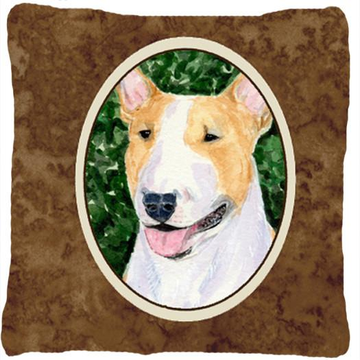 Bull Terrier Decorative   Canvas Fabric Pillow by Caroline's Treasures
