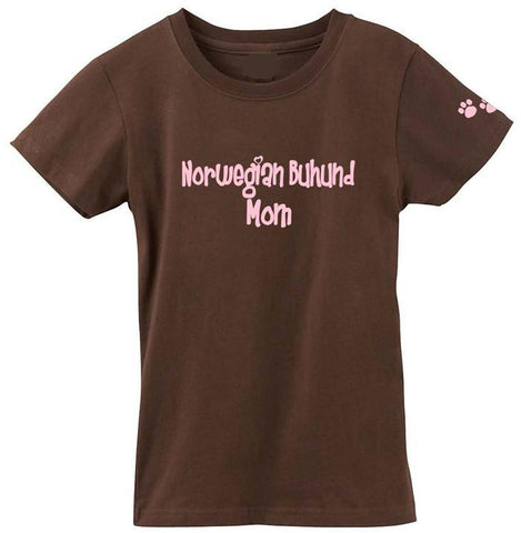 Buy this Norwegian Buhund Mom Tshirt Ladies Cut Short Sleeve Adult Medium