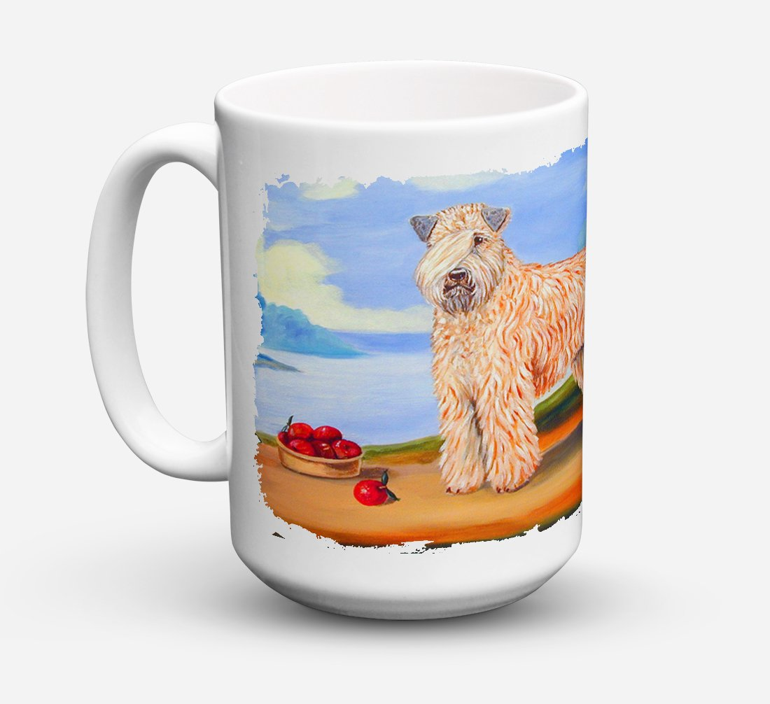Wheaten Terrier Soft Coated Dishwasher Safe Microwavable Ceramic Coffee Mug 15 ounce 7509CM15 by Caroline's Treasures