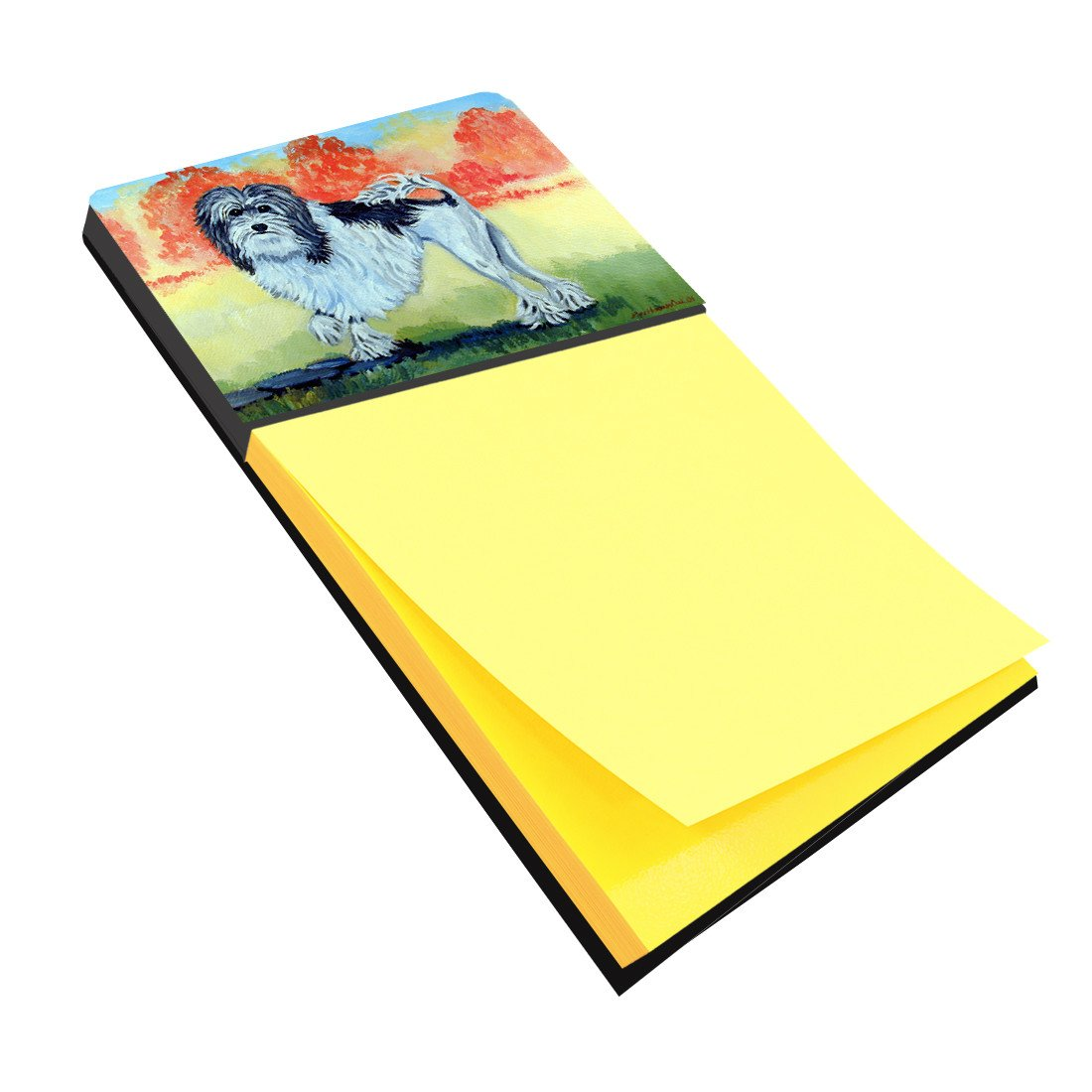 Lowchen Refiillable Sticky Note Holder or Postit Note Dispenser 7510SN by Caroline's Treasures