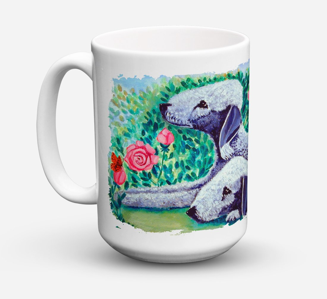 Buy this Bedlington Terrier Dishwasher Safe Microwavable Ceramic Coffee Mug 15 ounce 7512CM15