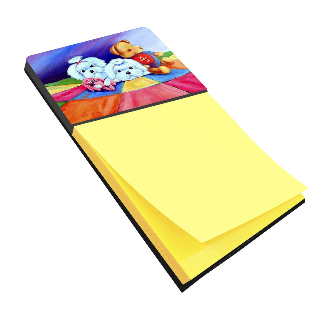 Maltese Refiillable Sticky Note Holder or Postit Note Dispenser 7515SN by Caroline's Treasures