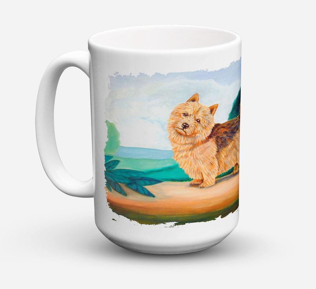 Norwich Terrier Dishwasher Safe Microwavable Ceramic Coffee Mug 15 ounce 7519CM15 by Caroline's Treasures