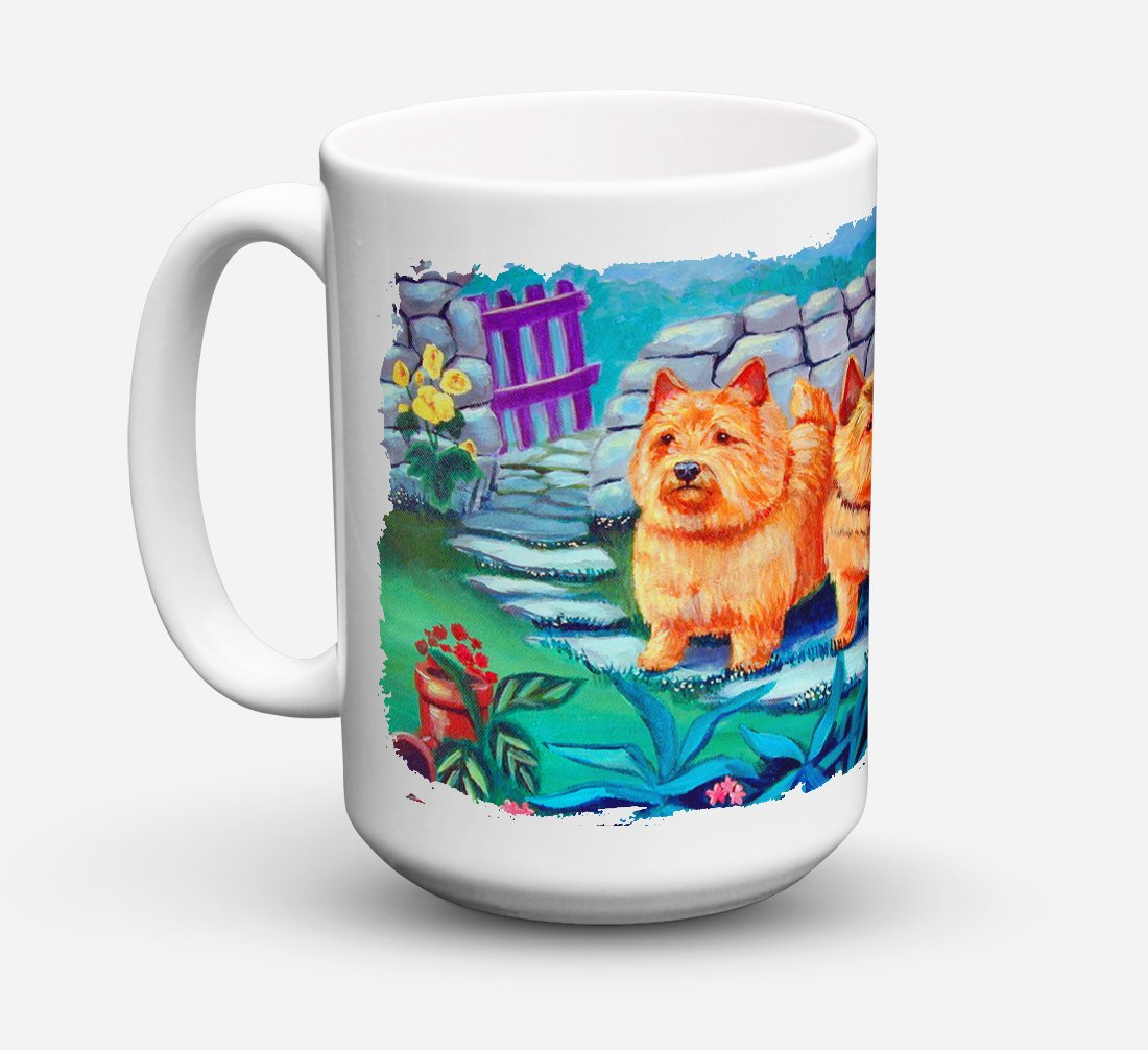 Norwich Terrier Dishwasher Safe Microwavable Ceramic Coffee Mug 15 ounce 7520CM15 by Caroline's Treasures
