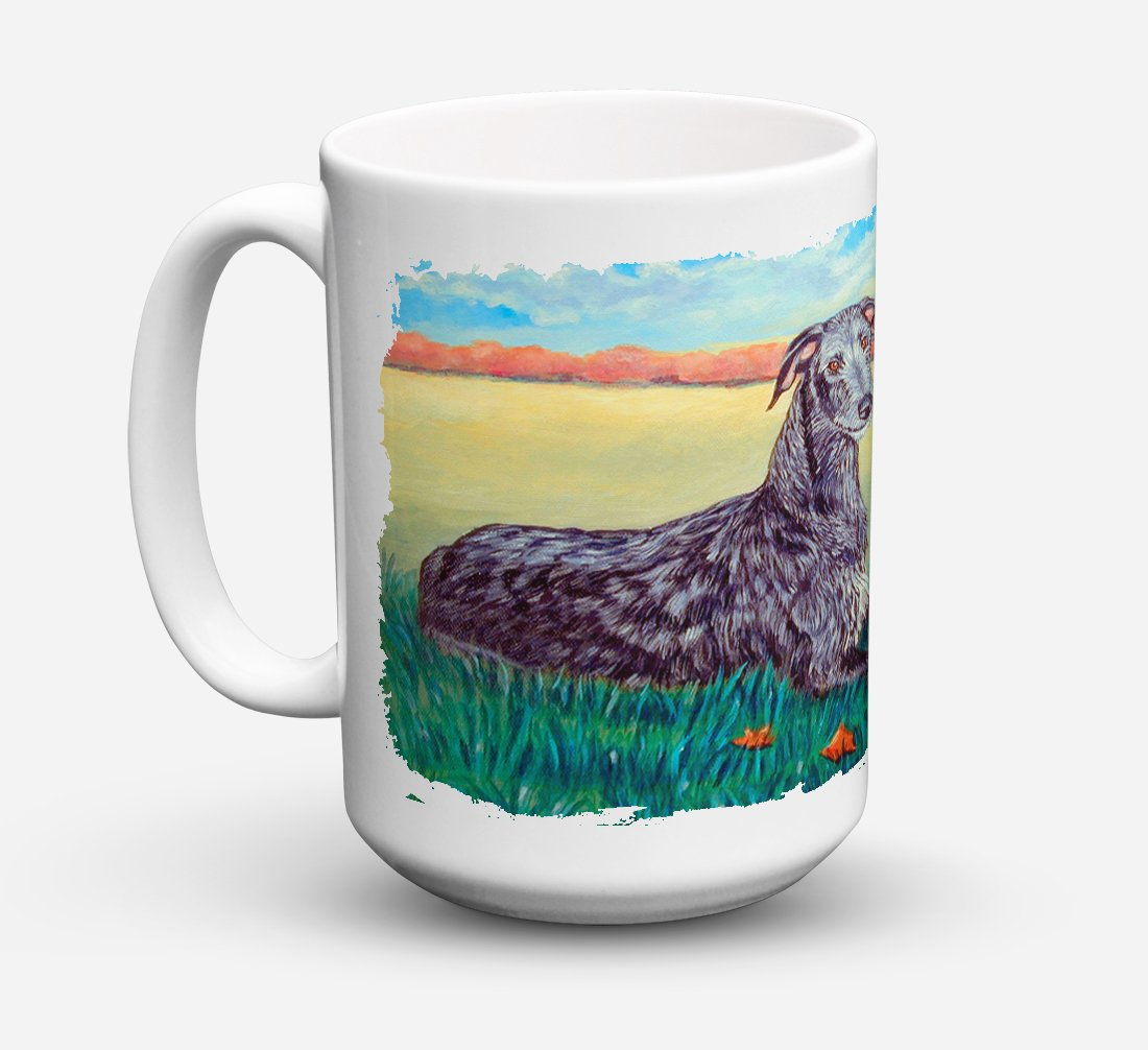 Scottish Deerhound Dishwasher Safe Microwavable Ceramic Coffee Mug 15 ounce 7521CM15 by Caroline's Treasures