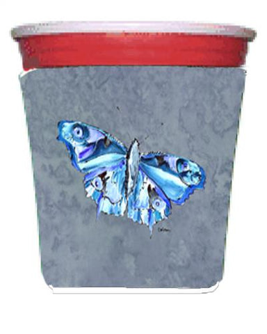 Buy this Butterfly on Gray Red Solo Cup Beverage Insulator Hugger