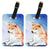 Pair of 2 Red and White Shiba Inu Luggage Tags by Caroline's Treasures
