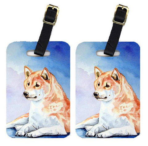 Buy this Pair of 2 Red and White Shiba Inu Luggage Tags