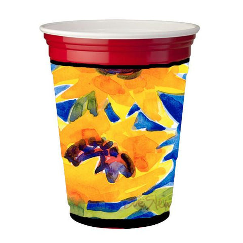 Buy this Flower - Sunflower  Red Solo Cup Beverage Insulator Hugger