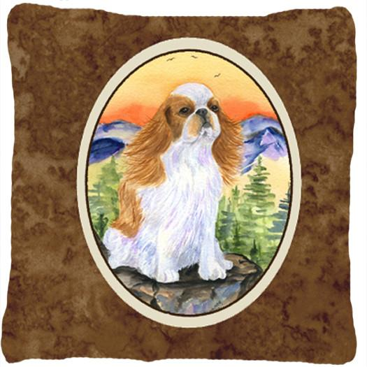 English Toy Spaniel Decorative   Canvas Fabric Pillow by Caroline's Treasures
