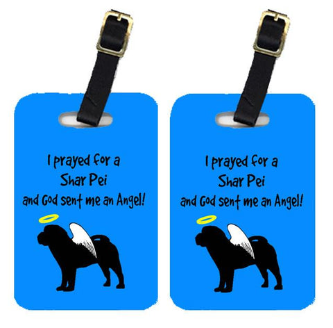 Buy this Pair of 2 Shar Pei Luggage Tags