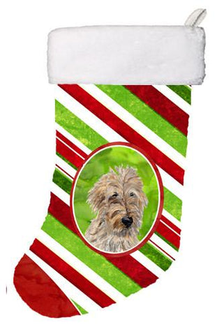 Buy this Golden Doodle 2 Candy Cane Christmas Christmas Stocking SC9811-CS