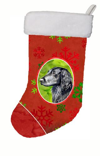Buy this Flat Coated Retriever Red Snowflakes Holiday Christmas Christmas Stocking