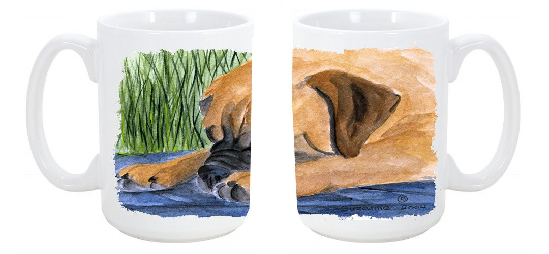Buy this Bullmastiff Dishwasher Safe Microwavable Ceramic Coffee Mug 15 ounce SS8033CM15