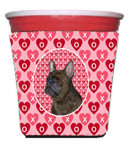 Buy this French Bulldog  Red Solo Cup Beverage Insulator Hugger