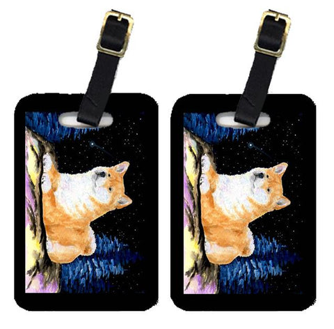 Buy this Starry Night Shiba Inu Luggage Tags Pair of 2