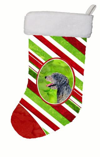 Buy this Irish Wolfhound Candy Cane Christmas Stocking SS4575
