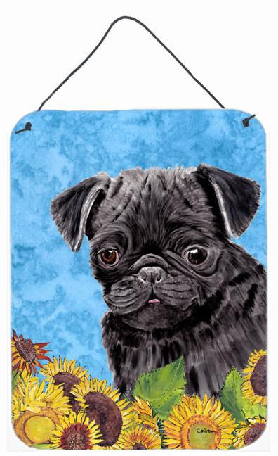 Pug Aluminium Metal Wall or Door Hanging Prints by Caroline's Treasures