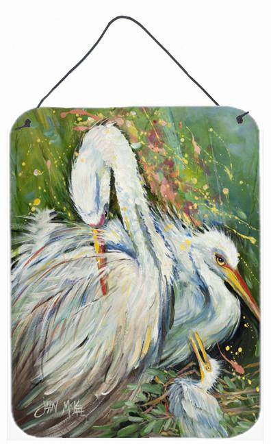 Buy this White Egret in the Rain Wall or Door Hanging Prints JMK1139DS1216
