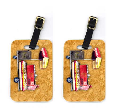 Buy this Pair of Hot Dog Luggage Tags