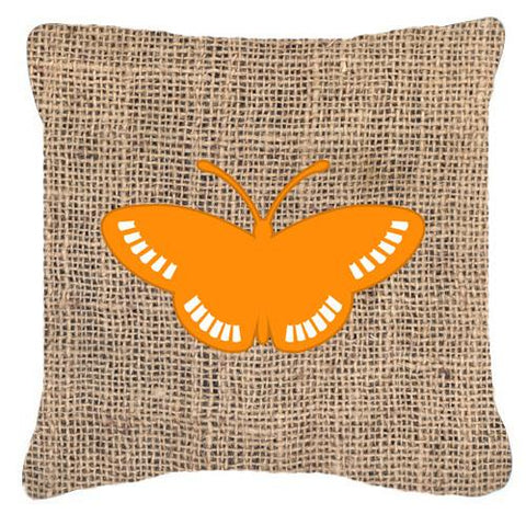 Buy this Butterfly Burlap and Orange   Canvas Fabric Decorative Pillow BB1031