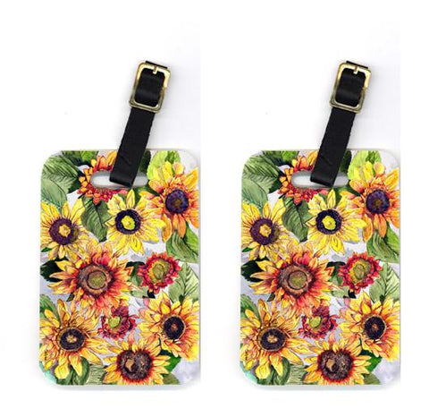 Buy this Pair of Sunflowers Luggage Tags