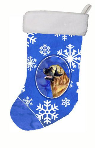Buy this Leonberger Winter Snowflakes Snowflakes Holiday Christmas Stocking LH9303