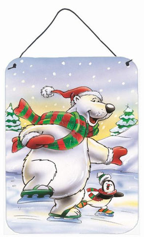 Buy this Holiday Polar Bears Ice Skating Wall or Door Hanging Prints AAH7270DS1216