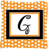 Monogram Initial G Orange Polkadots Decorative   Canvas Fabric Pillow CJ1033 - the-store.com