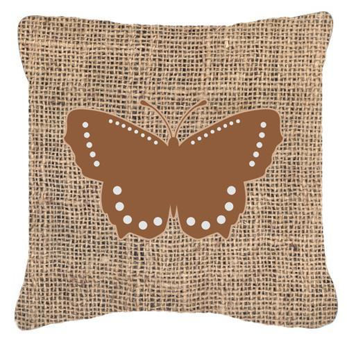 Buy this Butterfly Burlap and Brown   Canvas Fabric Decorative Pillow BB1033