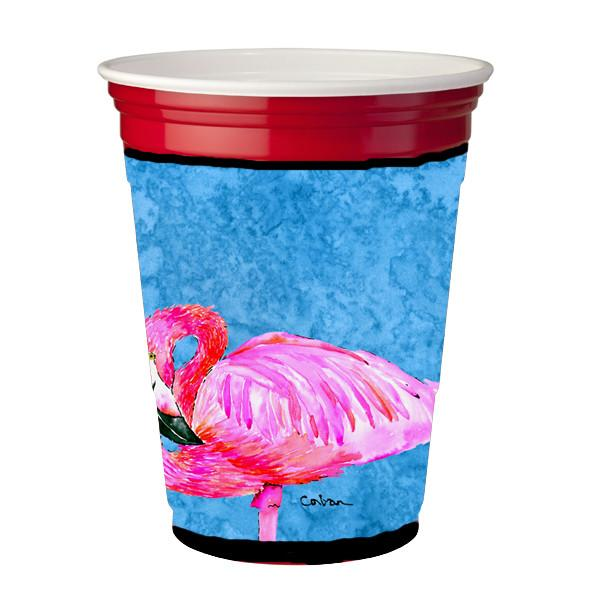 Bird - Flamingo  Red Solo Cup Beverage Insulator Hugger by Caroline's Treasures
