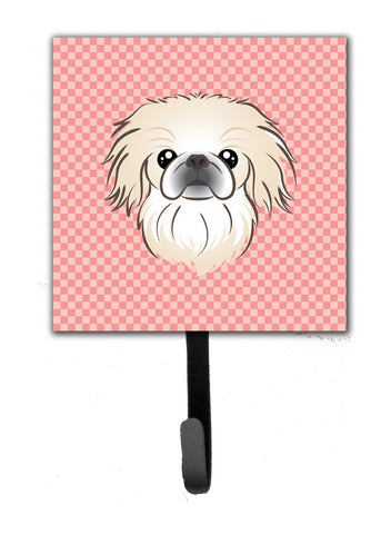 Buy this Checkerboard Pink Pekingese Leash or Key Holder BB1221SH4