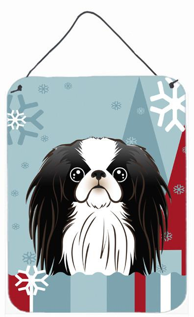Winter Holiday Japanese Chin Wall or Door Hanging Prints BB1726DS1216 by Caroline's Treasures