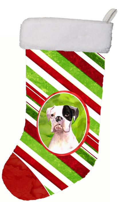 Buy this Cooper Candy Stripe Boxer Christmas Christmas Stocking RDR3002