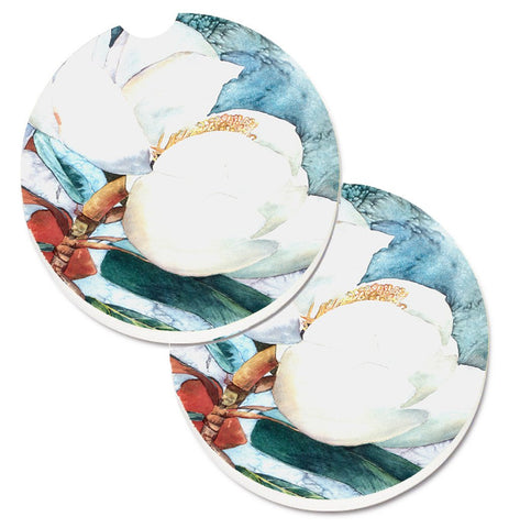 Buy this Flower - Magnolia Set of 2 Cup Holder Car Coasters 8001CARC