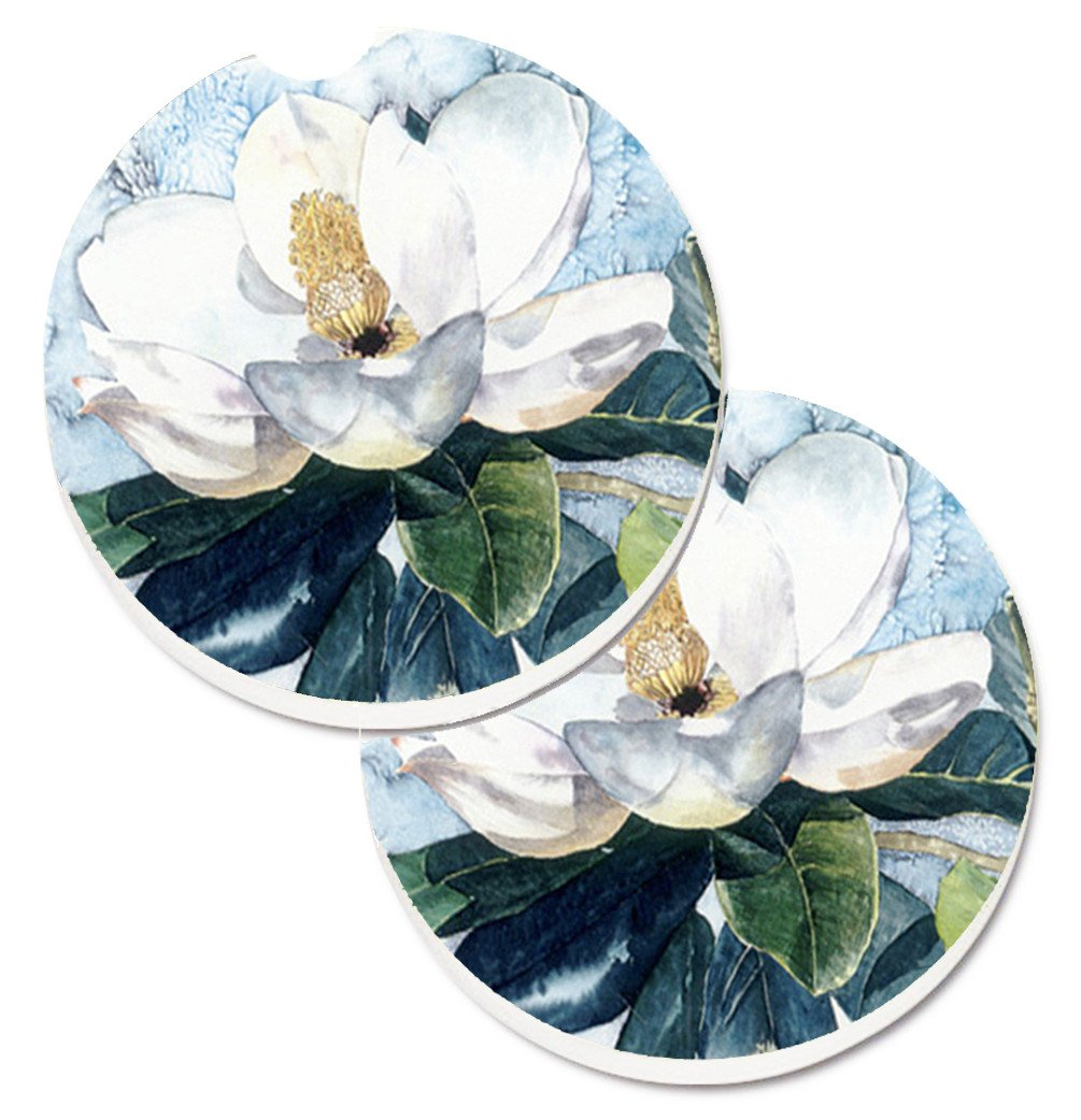 Buy this Flower - Magnolia Set of 2 Cup Holder Car Coasters 8003CARC