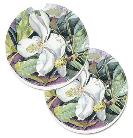 Buy this Flower - Magnolia Set of 2 Cup Holder Car Coasters 8004CARC