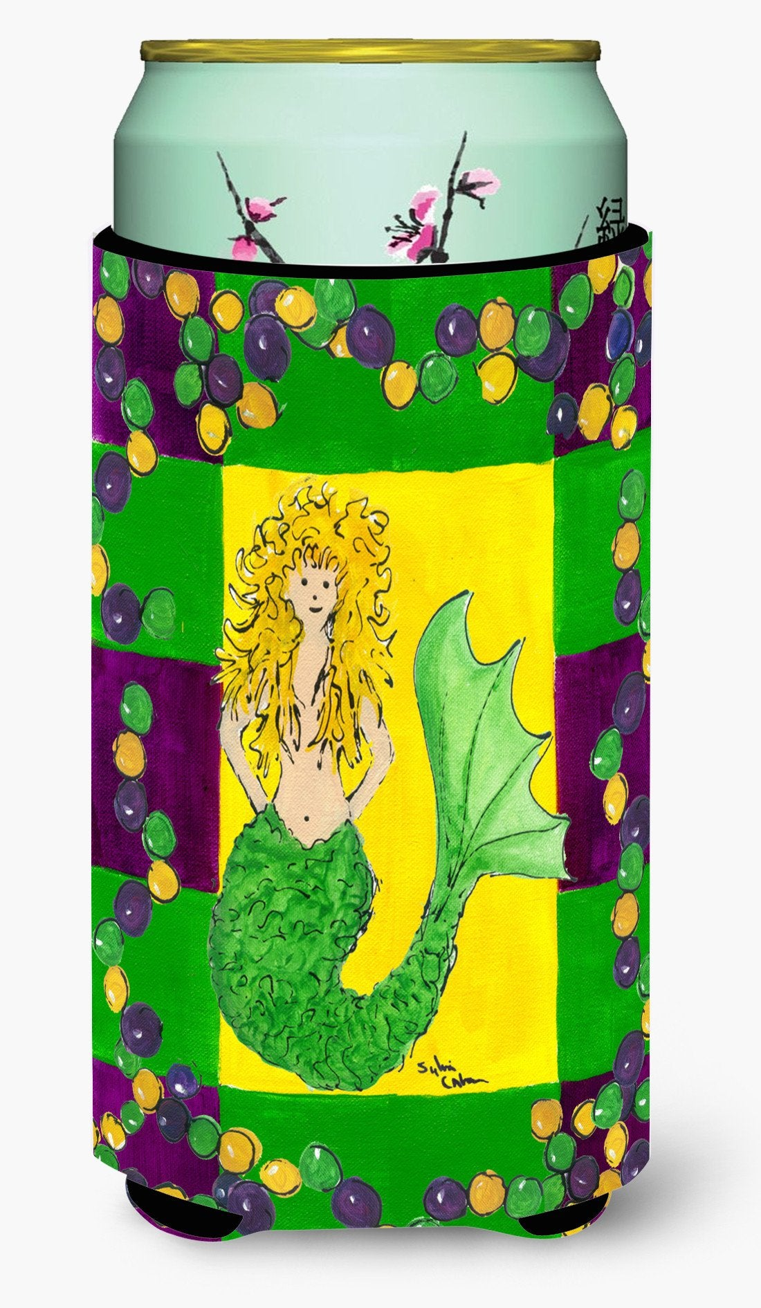 Mardi Gras Mermaid Tall Boy Beverage Insulator Beverage Insulator Hugger by Caroline's Treasures