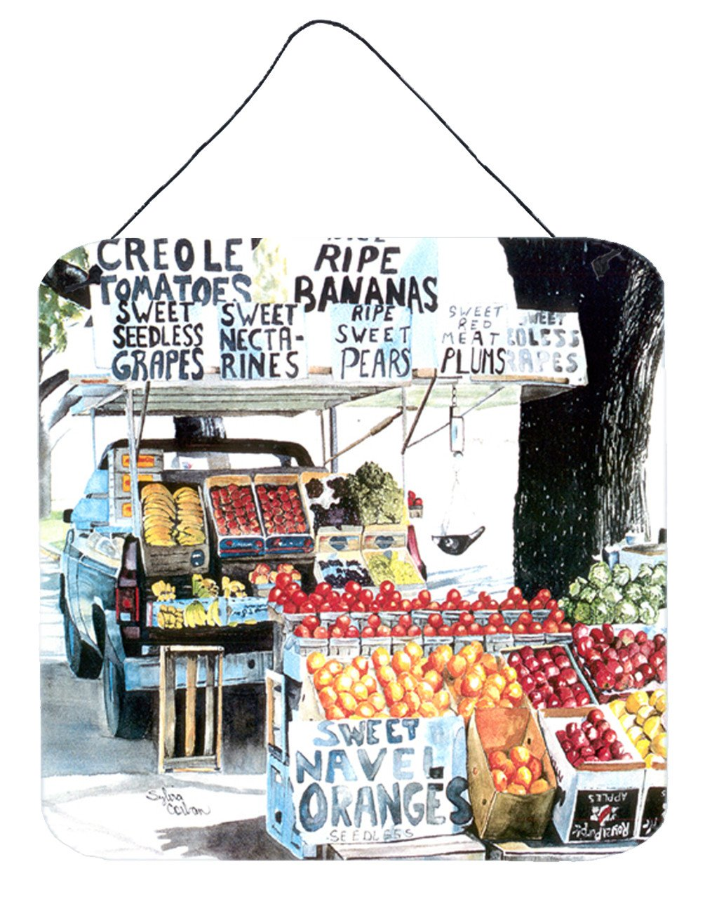 Fruit Stand Aluminium Metal Wall or Door Hanging Prints by Caroline's Treasures